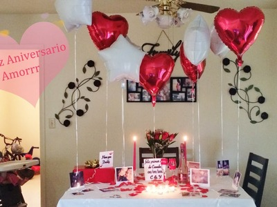 Ideas de decoracion para aniversario,cena romantica,etc