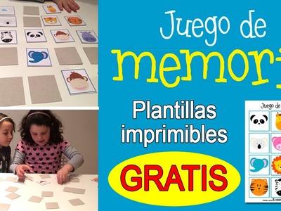 Juego de memoria para niños: Memory game