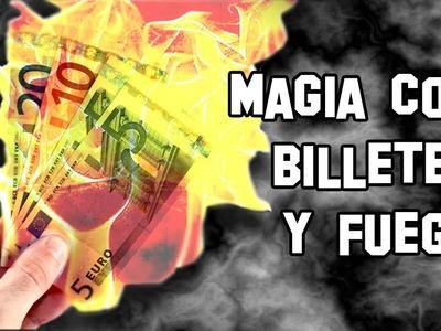 Magia con Billetes y Fuego Truco Apuesta Magia