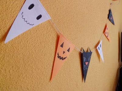 Manualidades infantiles: Banderines DIY para Halloween