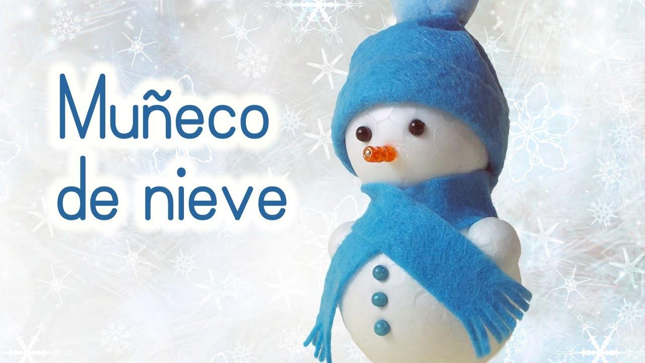 Manualidades para Navidad: MUÑECO de NIEVE Adornos navideños - Innova Manualidades
