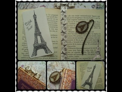 ✧Marcapáginas de la Torre Eiffel (Vintage, Paris. ) Especial Día del Libro