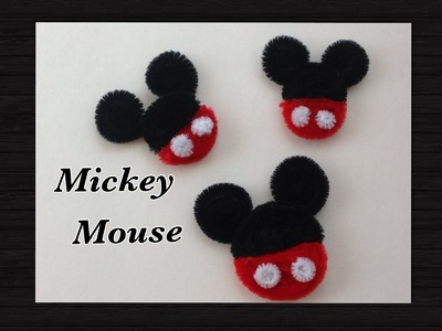 MICKEY MOUSE HECHO CON  LIMPIA PIPAS.- PIPE CLEANER MICKEY MOUSE .
