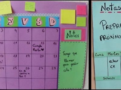 Pizarra de Tareas. Regreso a clases. Organízate y decora al mismo tiempo! ^^