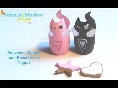 Souvenirs Dulceros con Envases de Yogurt Manualidades con Reciclaje