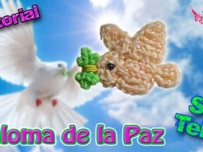 ♥ Tutorial: Paloma de la Paz de gomitas (sin telar) ♥
