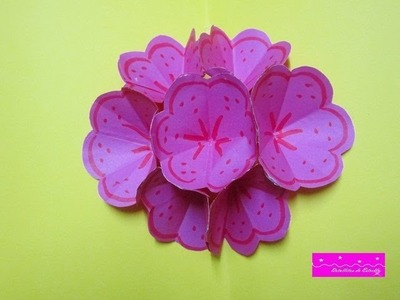 TUTORIAL:TARJETA FLOR POP UP-3D