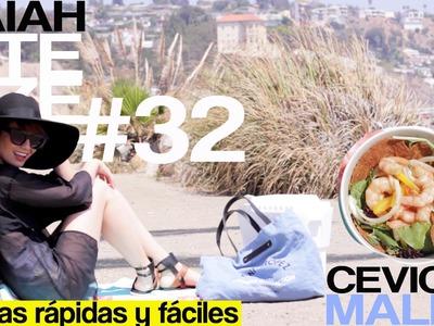 Almuerzos rápidos y ricos - Ceviche de camarón. Lunch salad ideas - Shrimp salad