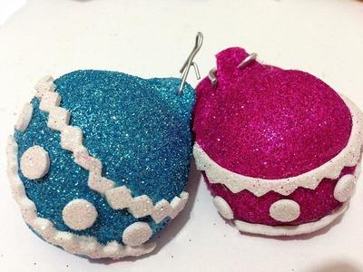Bolas de Navidad de foamy o goma Eva