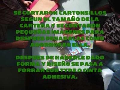 CARTERAS DE MATERIAL RECICLADO