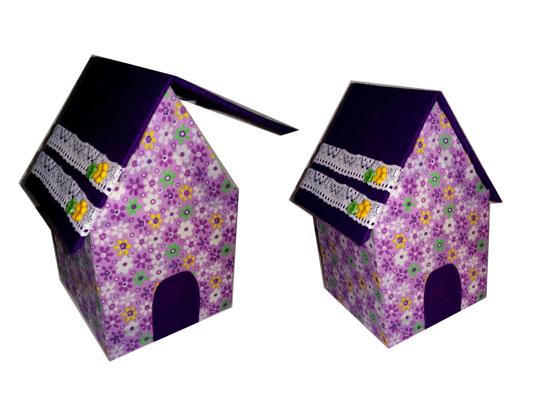 Casita organizadora reciclando cartón. DIY organizer recycled box.