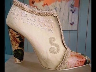 Como hacer cartapesta en zapatos vintage