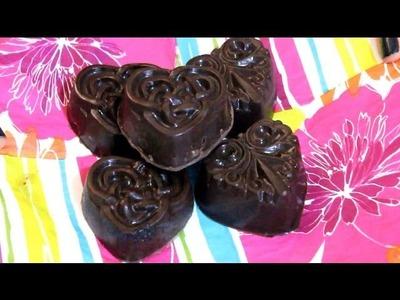 Cómo hacer Corazones de Chocolate rellenos de Galleta! Rapidísimo - Raiza Revelles