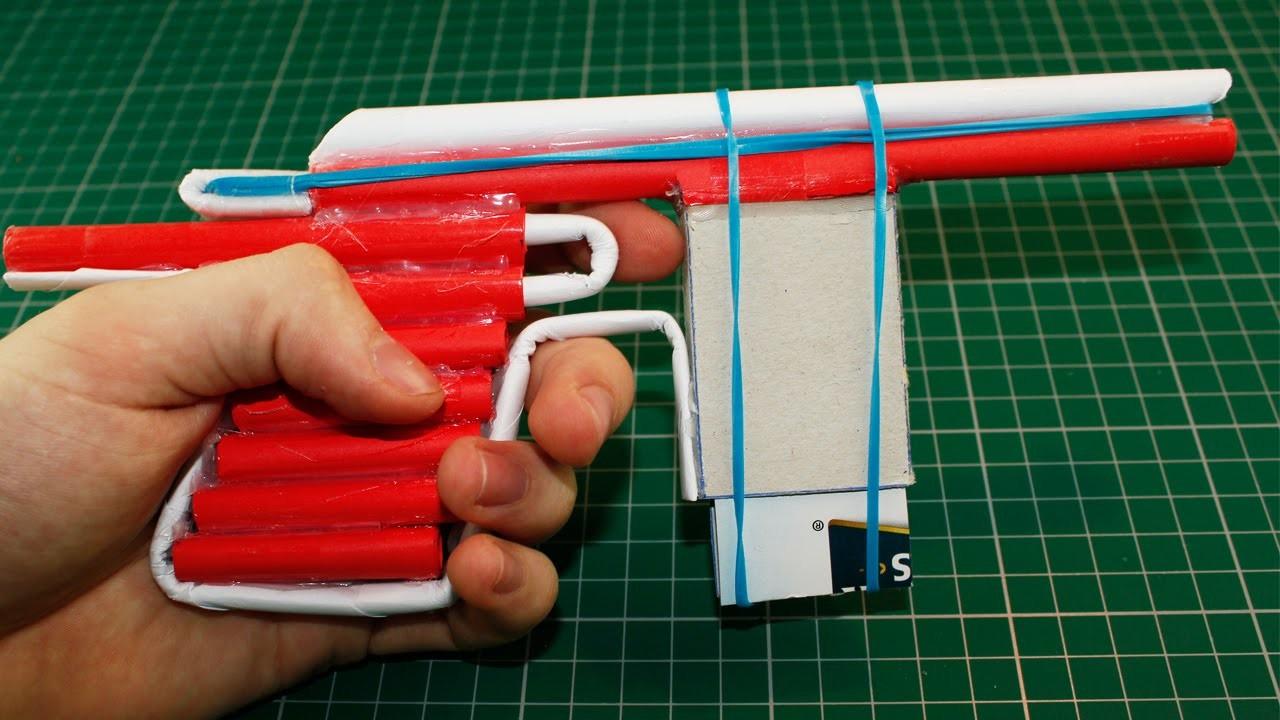 Como hacer Pistola de Papel que Dispare | Armas Caseras Fáciles