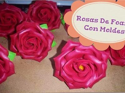 Como Hacer Rosas De Foami Con Moldes