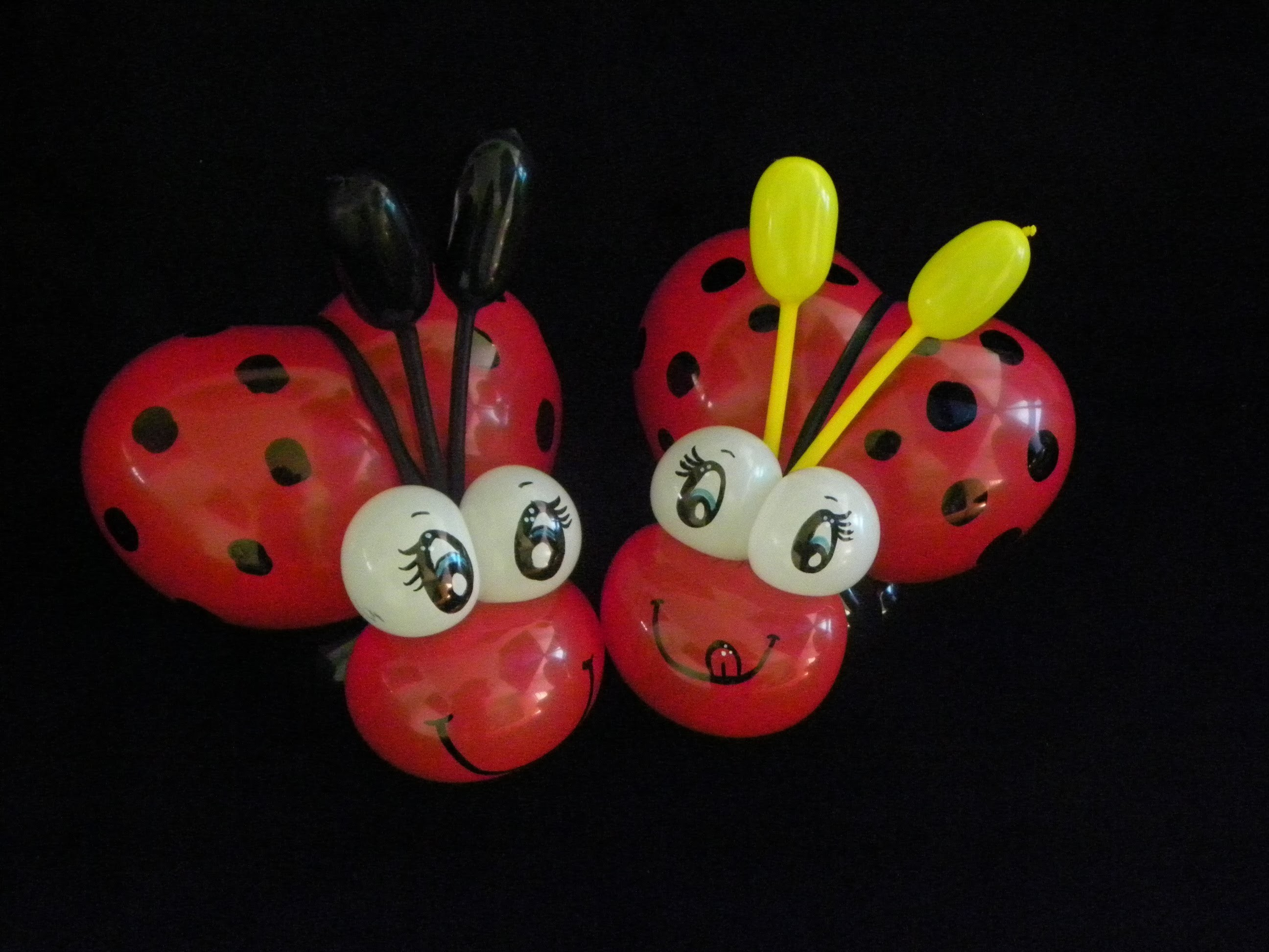 COMO HACER UNA CATARINA O MARIQUITA.- HOW TO MAKE A LADYBUG