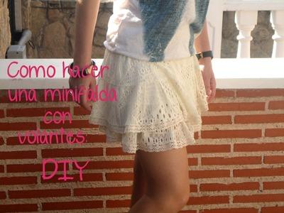 Como hacer una falda o pollera con volantes: (Patrón gratis) en patronesmujer.com