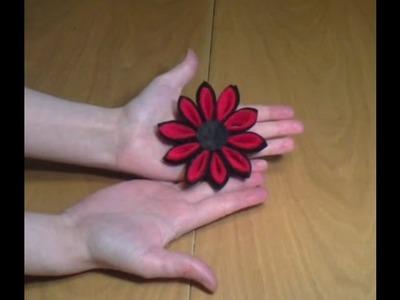 Cómo hacer una flor kanzashi con fieltro | facilisimo.com