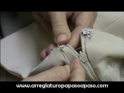 ¿Cómo se cose un corchete?