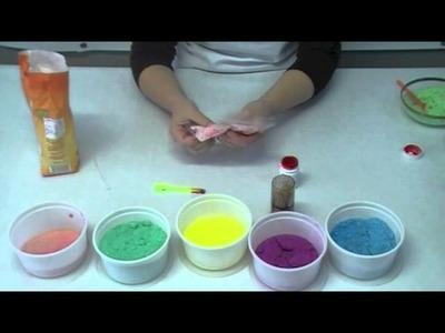 Cómo teñir azúcar para decoración de tartas y cupcakes