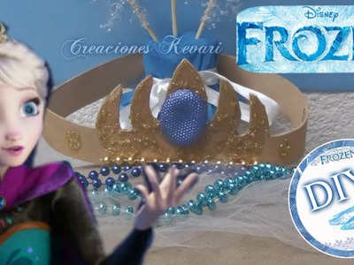 Corona de Elza de Frozen DIY + Invitación.How to Make Elsa's Crown from Frozen