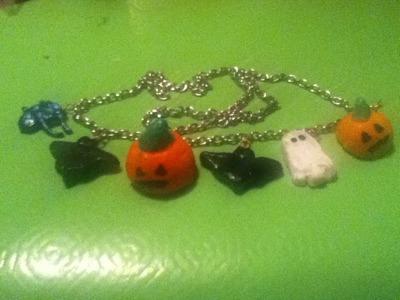 Crea un collar para Halloween Facil. !!!