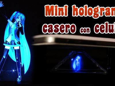 Crea un mini holograma casero con tu celular