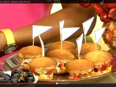 Cupcakes en forma de Hambuerguesas - Programa 3 - parte 2.3