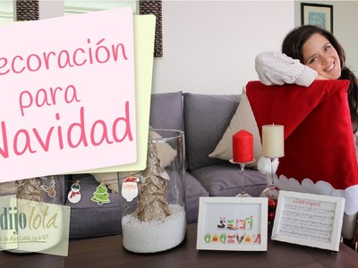 Decoraciones navideñas | Decoraciones fáciles para Navidad | DIY Holiday decorations