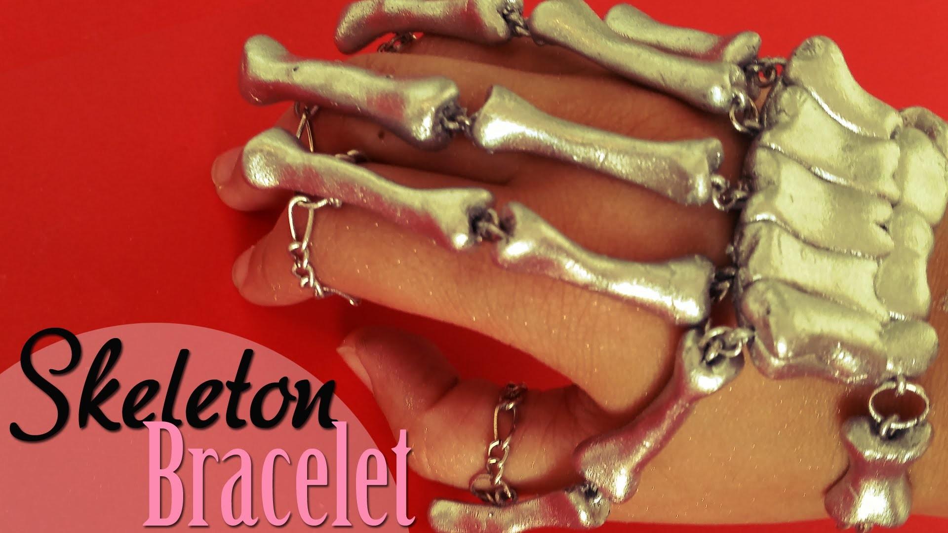 DIY: Brazalete esqueleto. Skeleton Bracelet