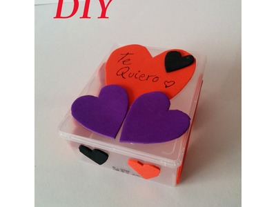 DIY, Como decorar una caja para San Valentín, Decorate box