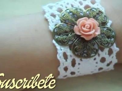 DIY: Como hacer una Pulsera Vintage ♥