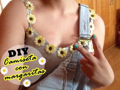 DIY | Decora tu camiseta con flores + Colaboración yesfor.com