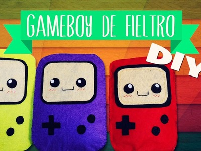 DIY decoración o regalo - Peluche GAME BOY COLOR de fieltro