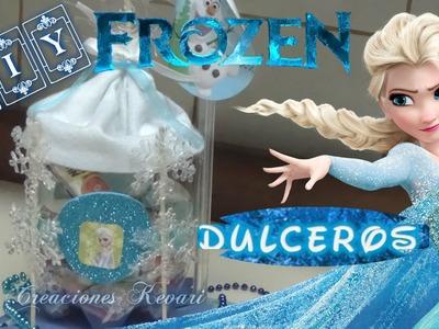 Dulcero de Frozen con material reciclado botellas Plasticas. Frozen's Elsa Candy Bag