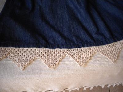 Encaje de crochet para alargar vestido