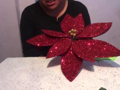 Flor de Nochebuena con fomi (5 de 5) Manualidades Ideas Kenita
