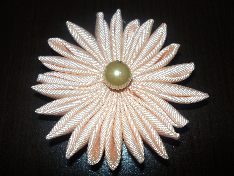 Flores en punta  para decorar accesorios para el cabello paso a paso