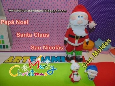 Fofucho Papá Noel, Santa Claus, San Nicolás,Adorno Navideño con Moldes