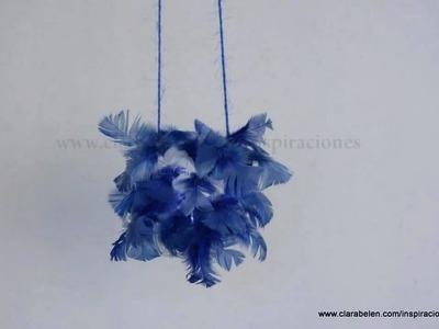 Manualidades: farol o farolillo de leds con botella plastico reciclada y plumas