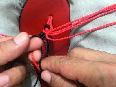 Modelo Rojo en Macrame