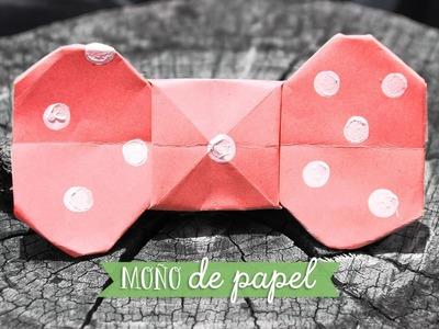 Moño de papel - corbatín - manualidad día del padre ✂️ Craftingeek