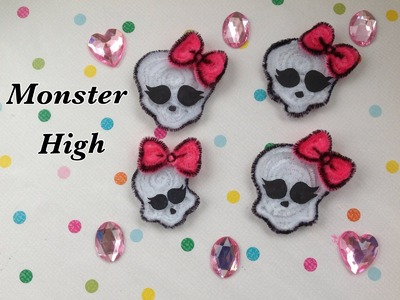 MONSTER HIGH LOGO  HECHO CON LIMPIA PIPAS.- PIPE CLEANER MONSTER HIGH LOGO