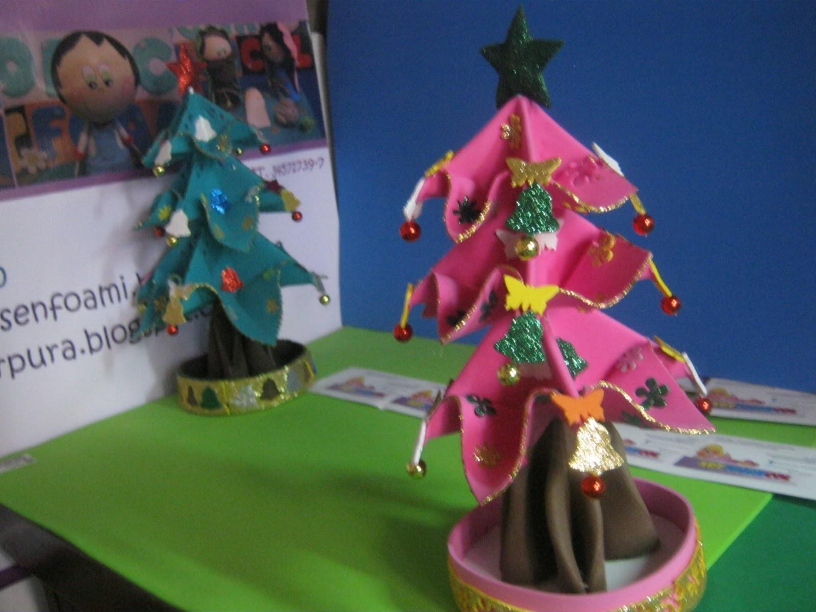 Navidad BARBIE Arbolito Fofucho Rosado Decorativo Foami Gomaeva tree Pink Artfoamicol Patrones