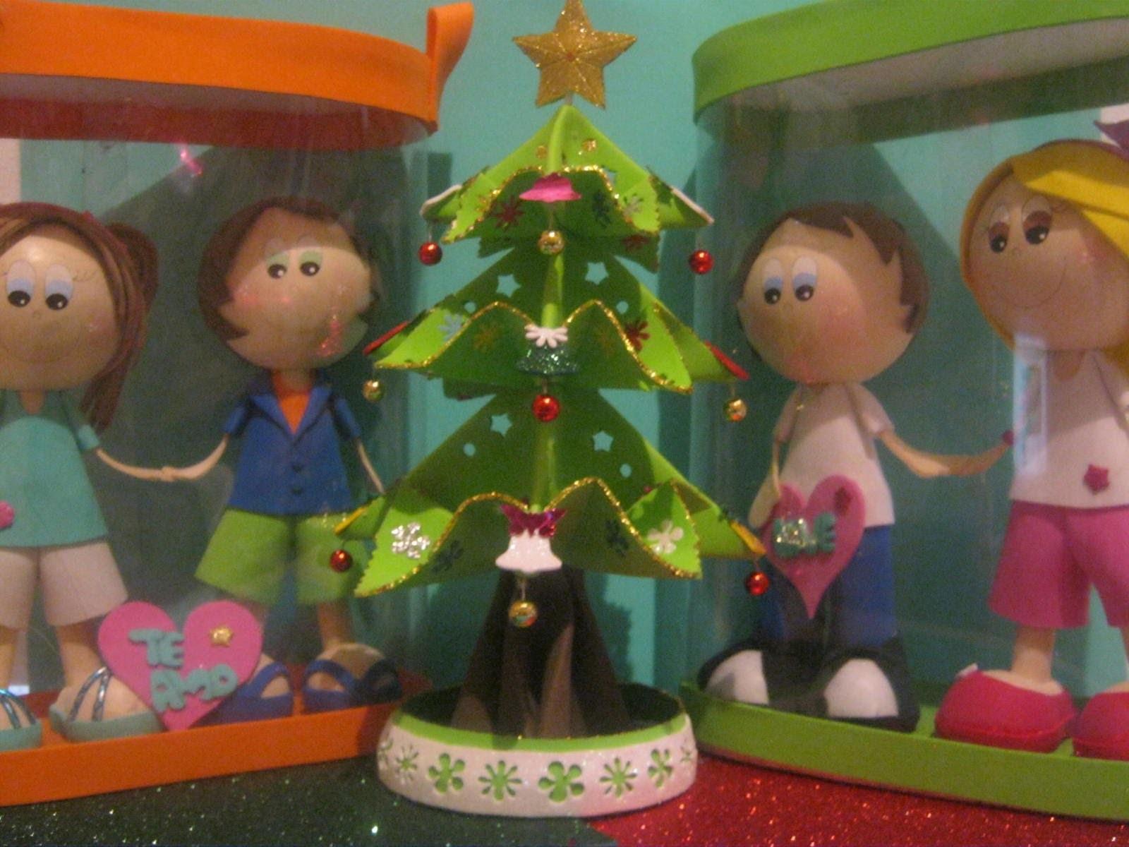 NUEVO Christmas Tree Arbolito De Navidad Fofucho 3D Foamy Artfoamicol Fofuchas Navideñas Moldes