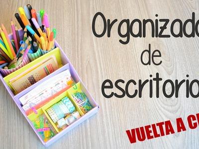 Organizador de escritorio - DIY con cartón