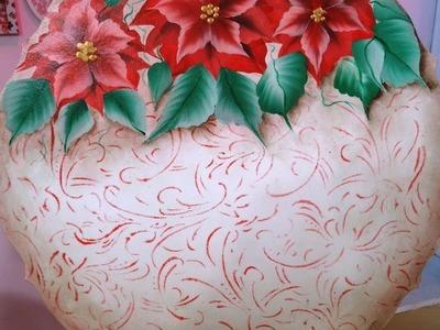 Pintura decorativa  - Pintura en acrilico - Plato Navideño - Fabian Leon