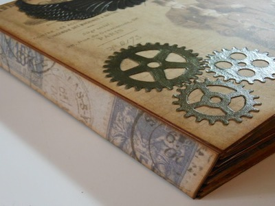 Proyecto álbum Steampunk: Encuadernación tipo espina | Mundo@Party