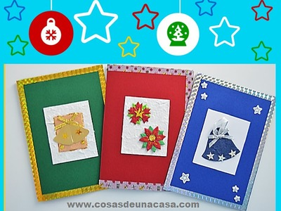 Tarjetas de Navidad hechas a mano fáciles -  2014