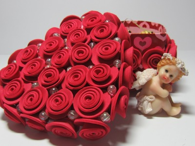 Tutorial: Caja con rosas de goma eva.